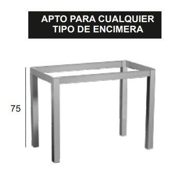 Armazón metalico reforzado para mesa